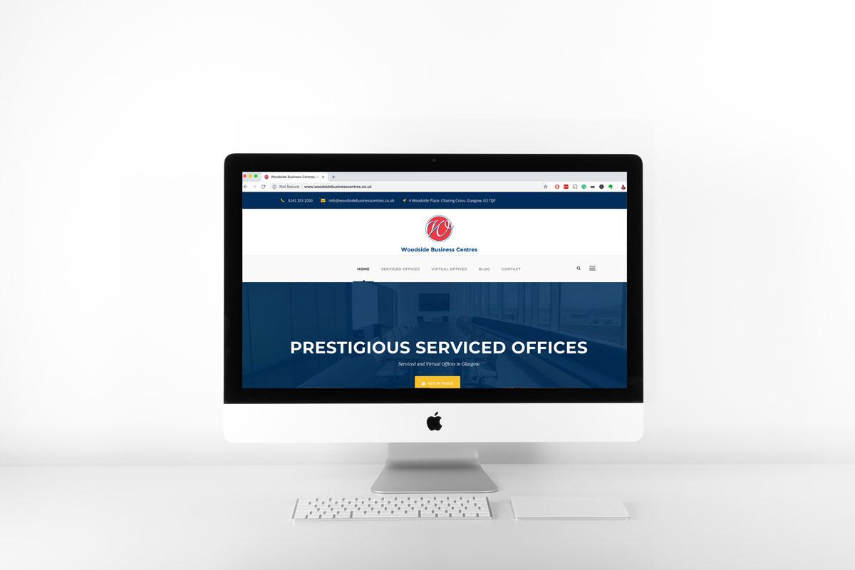 website displayed on mac