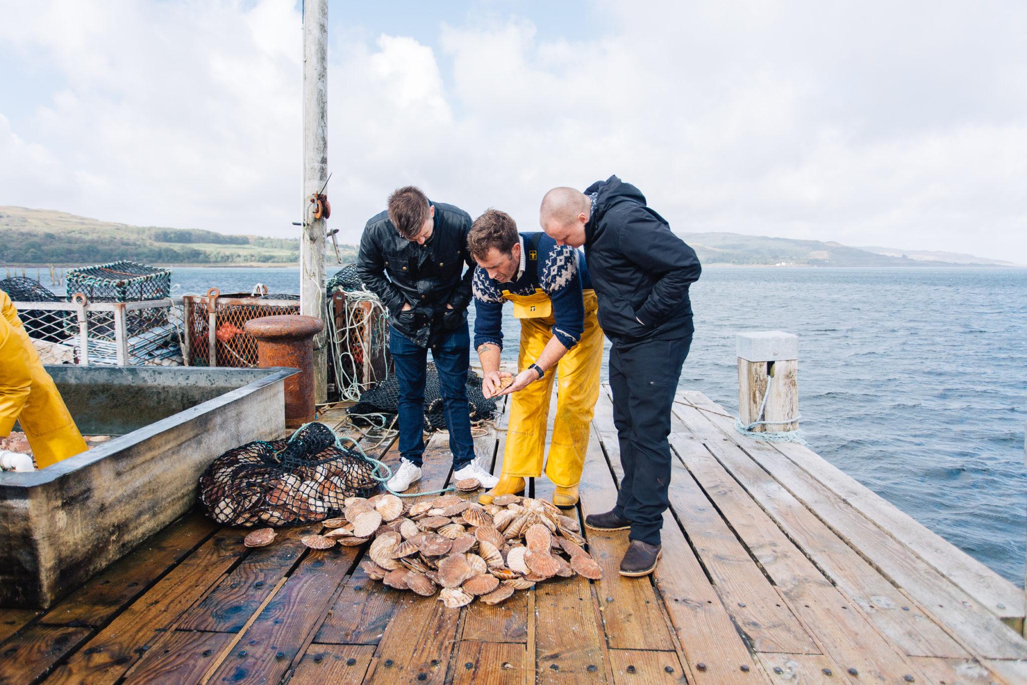 Men Standing Seafish